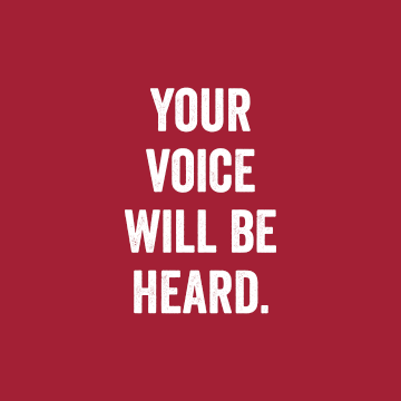 Voice Will Be Heard